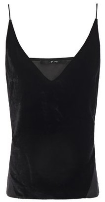 J Brand Lucy Velvet And Crepe De Chine Camisole