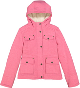 KC Collections Heather Pink Hooded Jacket - Girls