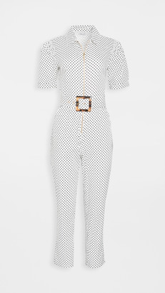 WeWoreWhat Short Sleeve Belted Jumpsuit