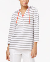 Karen Scott Hooded Layered-Look Top, Only at Macy's