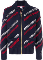 Moncler Gamme Bleu stripe knit cardigan