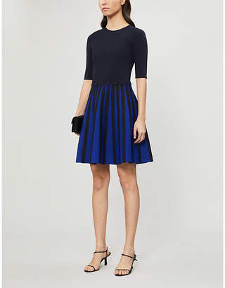 Ted Baker Salyee pleated stretch-jersey mini dress