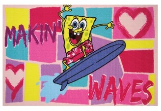 "Fun Rugs SpongeBob Making Waves Area Rug Rug Size: 1'7"" x 2'5"""