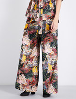 Erdem Birte wide-leg velvet trousers
