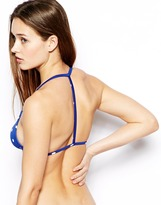 Asos Mix and Match Spot Moulded T Back Triangle Bikini Top