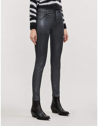 Paige Hoxton skinny high-rise coated jeans