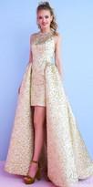 Mac Duggal Embellished Neck Overskirt A-line Evening Dress