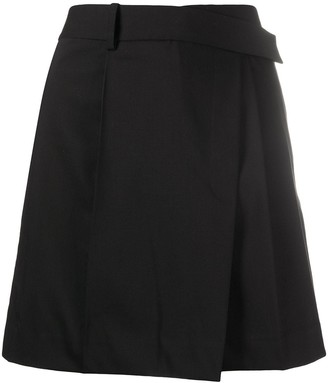 Helmut Lang Pleated Asymmetric Skirt