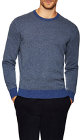 Luciano Barbera Cashmere Elbow Patch Sweater
