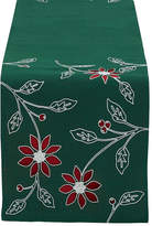 DESIGN IMPORTS Design Imports Embroidered Poinsettia Table Runner