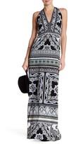 Hale Bob Halter V-Neck Print Maxi Dress