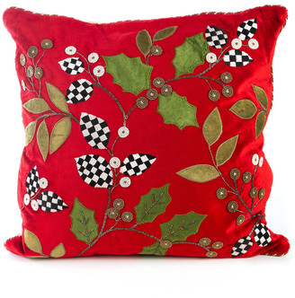 Mackenzie Childs Trailing Holly Pillow