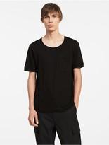 Calvin Klein Platinum Linen Easy Pocket T-Shirt