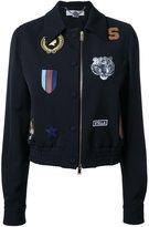 Stella McCartney cat patches bomber jacket - women - Wool - 38