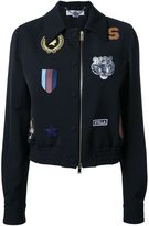 Stella McCartney cat patches bomber jacket