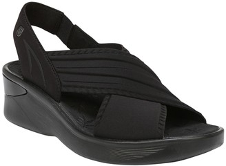 BZees Crisscross Slingback Wedge Sandals - Sunset