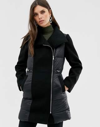 Fashion Union padded wool coat