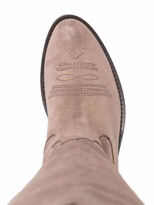 Via Roma 15 Low-Heel Suede Boots