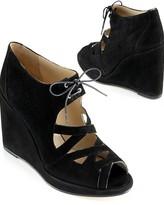 Lace-Up Wedge, Black