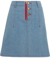 House of Holland + Lee Appliquéd Denim Skirt - Light denim