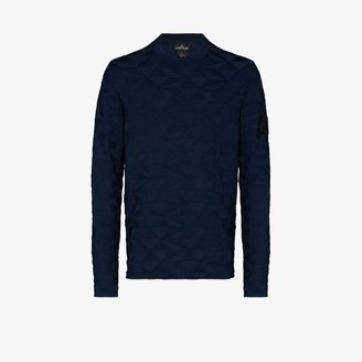 Stone Island Shadow Project Geometric knit cotton sweater