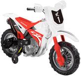 White Honda CRF250R 6V Dirt Bike Ride-On