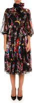 Dolce & Gabbana Printed Chiffon Dress