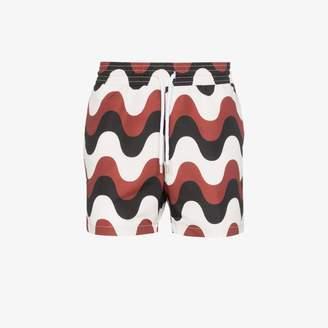 Frescobol Carioca Copacabana wave print swim shorts
