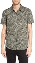 John Varvatos Men's Slim Fit Floral Print Sport Shirt