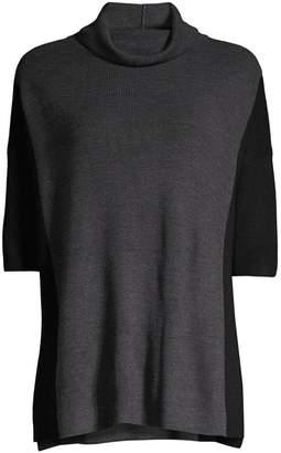 Eileen Fisher Funnel-Neck Wool Top