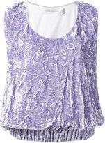 Victoria Beckham draped tank top - women - Silk/Polyester/Spandex/Elastane/Viscose - 10