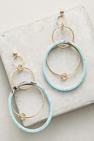Anthropologie Navy Tandem Hoop Earrings