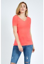 Select Fashion Fashion Women's V Neck T-Shirt Tops - size 8