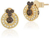 LeVian 14K Gold Chocolate Deco Diamond Earrings