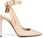 Tom Ford Embellished Python Pumps - Blush