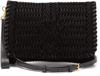 Anya Hindmarch The Neeson Small Ribbon Velvet Cross Body Bag - Womens - Black