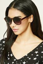 Forever 21 FOREVER 21+ Tortoiseshell Round Sunglasses