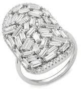 Saks Fifth Avenue Crystal-Embellished Sterling Silver Ring