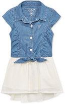GUESS GUESS' High-Low Denim Dress, Little Girls (2-6X)