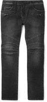 Balmain - Skinny-fit Stretch-denim Biker Jeans