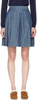 A.P.C. Indigo Umbrella Miniskirt