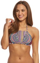 Red Carter Tribal Daze Halter Strappy Triangle Bikini Top 8156670