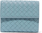 Bottega Veneta Intrecciato Leather Wallet - Sky blue