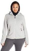 Champion Women's Plus-Size Sweater Fleece Bonded Jacket