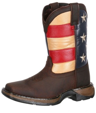 Durango Unisex DBT0159 Western Boot Brown/Union Flag 1 M US Little Kid