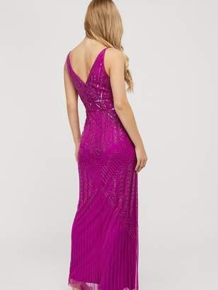 Monsoon Eva Embellished Maxi Dress - Pink