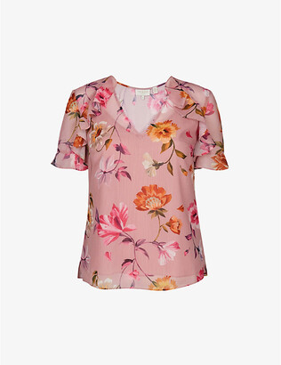 Ted Baker Rhubarb V-neck woven top