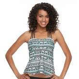SO Mix and Match Open Back Printed Tankini Top