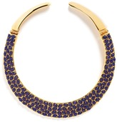 Kenneth Jay Lane Resin bead gold plated torque necklace