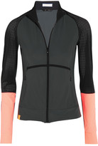 Monreal London Perforated Stretch-jersey Jacket - Charcoal